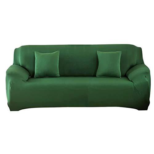 Ourine - Funda de sofá de 3 plazas de 3 plazas elástica todo incluido funda de sofá color verde