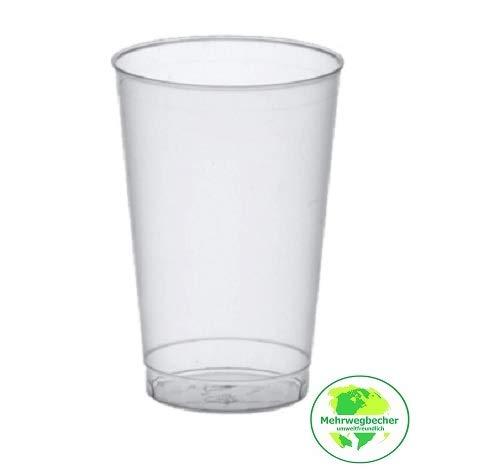 Gastro-Bedarf-Gutheil 25 stabile Trinkbecher 0,3 l Plastikbecher Trinkbecher Cocktailbecher Wasserglas Saftglas Partybecher Bierbecher bruchfest und unzerbrechlich