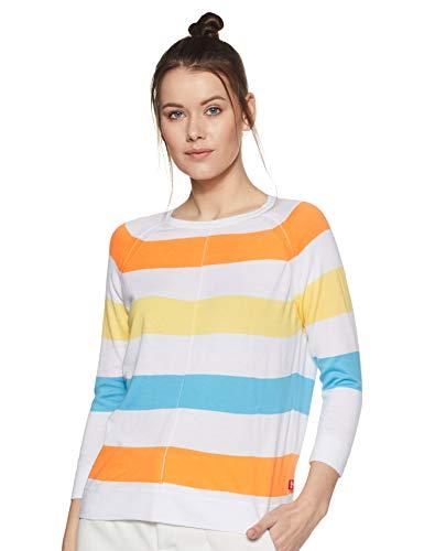 Levi's Women's Striped Regular fit T-Shirt (73954-0000_Multicoloured XL)
