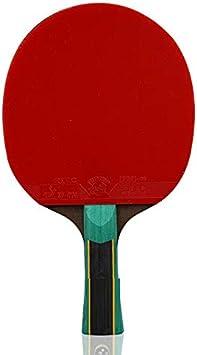 Hewen - Conjunto de pingue-pongue antiderrapante profissional grau 9 estrelas raquete de tênis de mesa pingpong ping pong conjunto com 1 raquete, 10 bolas taco de tênis de mesa (tamanho : curto)