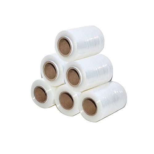 Mini Stretchfolie Wickelfolie Packfolie 10cm x 125m | 0.3KG | 9er Pack | Transparent