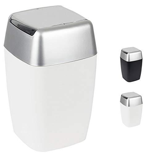Spirella Kosmetikeimer Retro mit Schwingdeckel 7 Liter (ØxH): 20 x 33 cm Weiß
