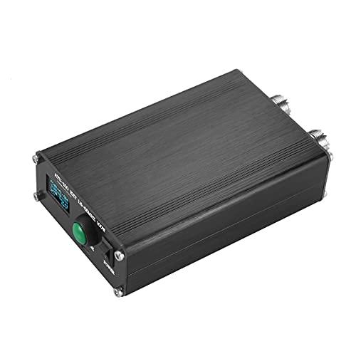 Explopur Sintonizador automático de Antena ATU-100 EXT 1.8-55 100W Sintonizador de Antena de Onda Corta con Pantalla OLED de 0.96 Pulgadas Carcasa de Metal Batería Recargable incorporada