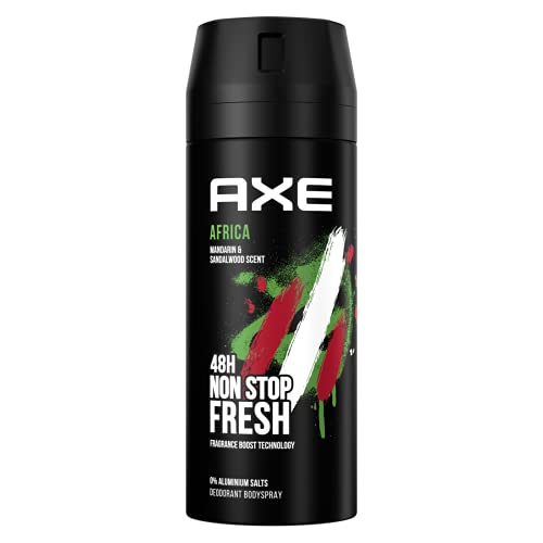 AXE Bodyspray Africa Deo ohne Aluminium mit effektivem Schutz vor Körpergeruch 150 ml 1 Stück