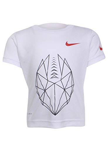 Nike Geo Football T-Shirt White Toddler Boy's Short Sleeve Crew Neck Sz: 3T