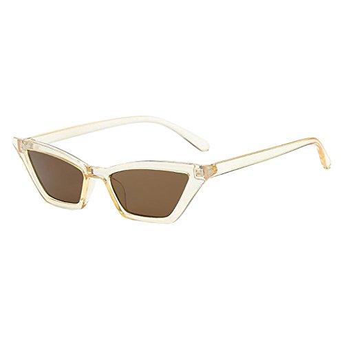 Colcolo Gafas de Sol Retro para Mujer Gafas de Sol de Estilo Clásico - champán