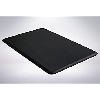 Gorilla Grip Original Premium Anti-Fatigue Comfort Mat, Phthalate Free, Ships Flat, Ergonomically Engineered, Extra Support and Thick, Kitchen and Office Standing Desk (32 x 20 x 1/2: Black)
