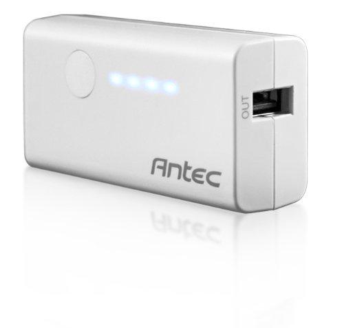 Antec Powerup 3000 batería externa Gris Ión de litio 3000 mAh - Baterías externas (Gris, Teléfono móvil/smartphone, Tablet, MP3/MP4, GPS, Lector de libros electrónicos, CE, RoHS, FCC, C-TICK, Gost-R, PSE, Ión de litio, 3000 mAh, 5 V)