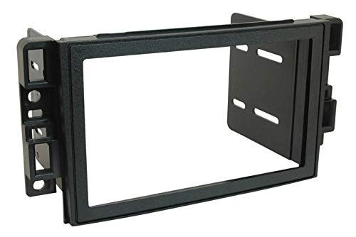 Scosche GM1520B Compatible with 2007-11 Chevrolet Aveo LT ISO Double DIN & DIN+Pocket Dash Kit Black