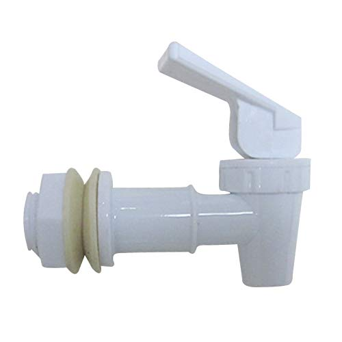 Lifemaison Ersatz Vorstoss Typ Kunststoff Plastik Wasserhahn Hahn für Wasserspender Zapfhahn Auslaufhahn Getränkespender (weiß)