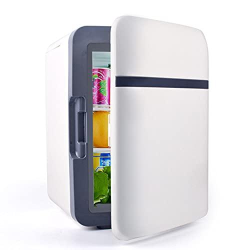 WUQIAO Refrigerador y Calentador portátil del Viaje de los Mini refrigeradores del Coche 10L, para los Accesorios de la Comida campestre de la Oficina en casa del automóvil,Blanco