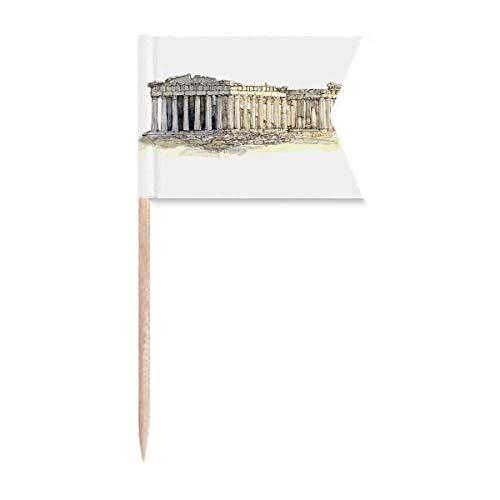 Beauty Gift Akropolis von Athen von Griechenland Markierung für die Kennzeichnung von Zahnstocher-Flaggen