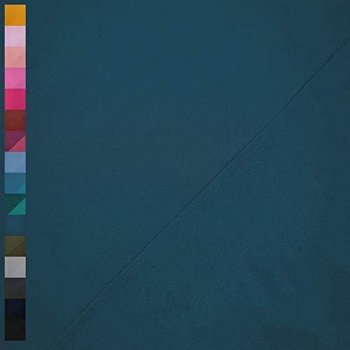Nano Softshell von Swafing, wind- und wasserabweisend, uni jeansblau (25cm x 140cm)