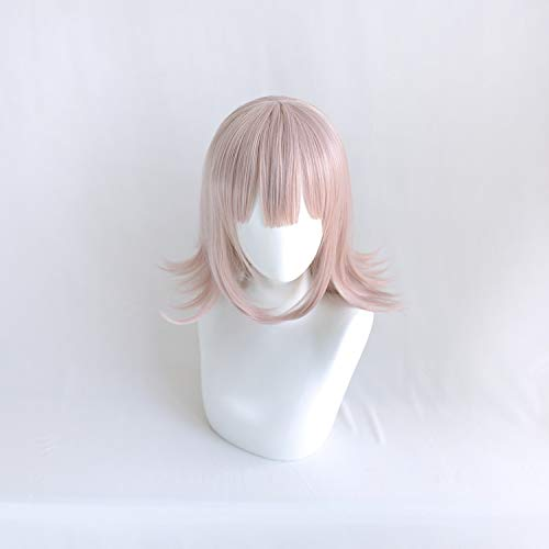 LZT 40cm/15.75''Lotus Short Anime Cosplay Pelucas Para Danganronpa Chiaki Nanami Cosplay peluca Con Gorra Gratis