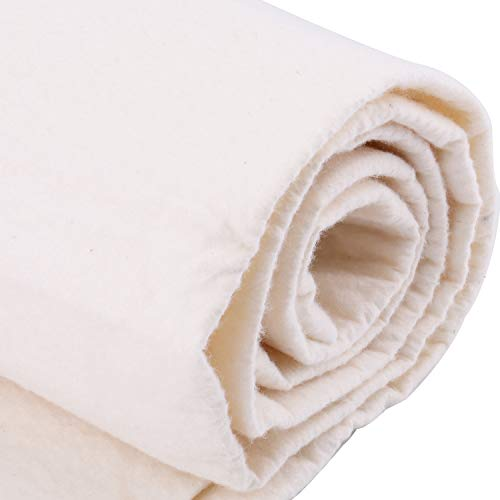 Tosnail 90-Inch x 108-Inch Soft Natural Cotton Batting for Quilts, Craft and Wearable Arts