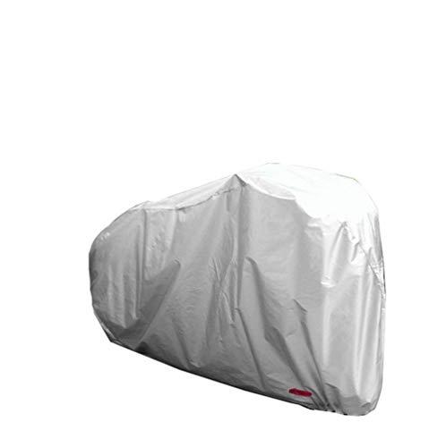 Funda para bicicleta 210D Oxford, impermeable, portátil, ligera, para almacenamiento en interiores y exteriores, para bicicleta de montaña, carretera, antipolvo, lluvia, nieve, viento, protección UV, cubierta de almacenamiento (S M L XL), plata, S(170x60x85cm)