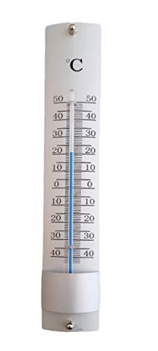 Termometro per esterni in alluminio misura da -45 gradi a + 50 gradi (Alluminio)