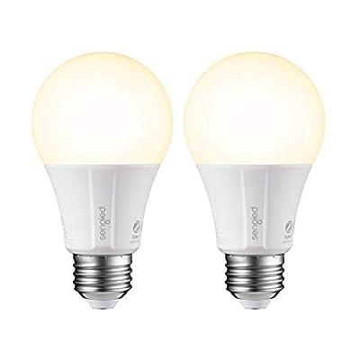 Sengled Smart Light Bulb, Smart Bulbs That Work with Alexa, Google Home (Smart Hub Required), Smart Bulb A19 Alexa Light Bulbs, 800LM Soft White (2700K), A19 Dimmable, 9W (60W Equivalent), 2 Pack