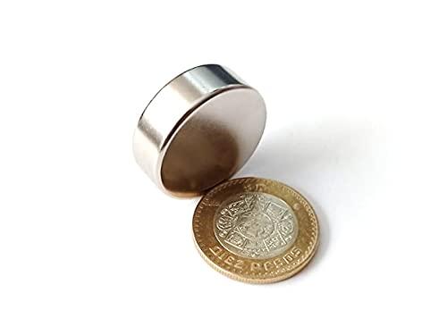 Imán De Neodimio Circular 30mm x 10mm Grado N45 13,500 Gauss Magneto Disco Super Potente (1)