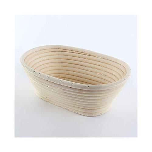 CHUNMA Pane Ovale Canna da Zucchero Pasta cella di lievitazione Si Rivela in midollino Naturale Gadget Carrello da Cucina (Color : Beige)