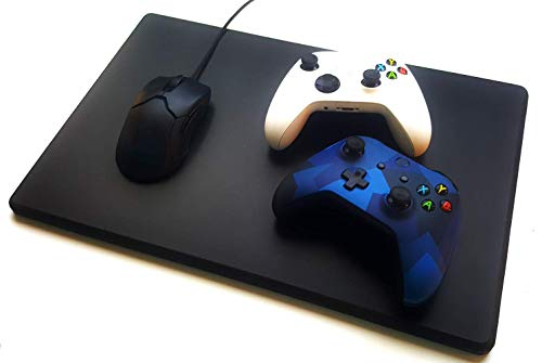 Hard Mouse Pad - This Extra Large Hard Mouse pad is Unique. It's Made of Thick, Solid Plastic with a Medium-Hard Surface for Precision Gaming and Work