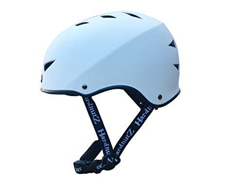 HardnutZ Casco de Ciclo y Blanco–BMX, Bicicleta, Skateboard, tamaño pequeño, Mediano y...