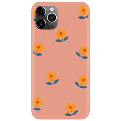 Yoedge Cover Huawei P8 Lite 2017, Custodia Morbida Arancia Silicone Liquida con Design Print Cute Cartoon Pattern Antiurto Anti-scratch Protective Back Case per Huawei P8 Lite 2017, Arancia-01