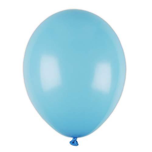 Salong Luftballons 20er Set | Biologisch abbaubar | Luft-Ballons | Partyballons | Latexballons | Hochzeitsballons | Balloons | Luft & Helium-Füllung | Baby-Blau | 20 Stück