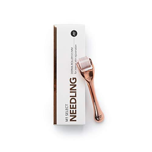 NEEDLING Derma Roller 0,5mm - Anti-Aging Behandlung für zu Hause - 540 Nadeln aus medizinischem Titan - von M1 SELECT