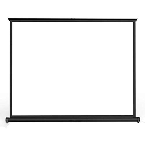Projector Screen Home Theater Movie Display Screen Curtain 50 Inch Foldable Desktop Mini 16:10 Projector Projection Front and Rear Projection (Color : White, Size : 50 Inch)