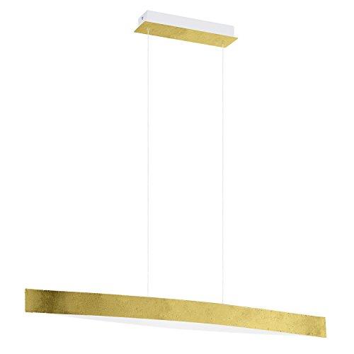 EGLO 93341 A, Hängeleuchte, Stahl, Integriert, Gold/Weiß, 97 x 8.5 x 110 cm