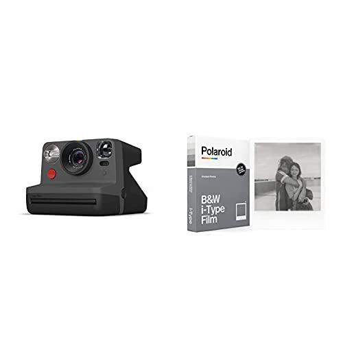 Oferta de Polaroid - 9028 - Polaroid Now Cámara instantánea i-Type Negro + Película Instantánea N y B para i-Type