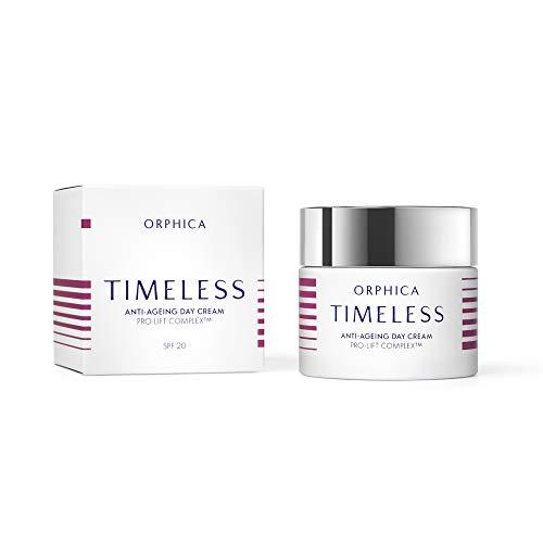 ORPHICA TIMELESS Anti-aging Tagescreme, Antifalten, Antiaging, Feuchtigkeit, Gesicht Creme, Naturkosmetik, Feuchtigkeitscreme, Damen Kosmetik mit Vitamin, Hautpflege, Testsieger, 50 ml
