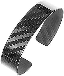 Aviacompositi-Carbonikon - Bracciale uomo in fibra di carbonio Ultra Lucida larghezza 15mm