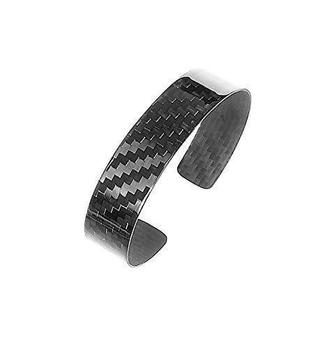 Aviacompositi-Carbonikon Herren Armband Carbonfaser Ultra Glanz Breite 15mm für Handgelenk 17-19cm