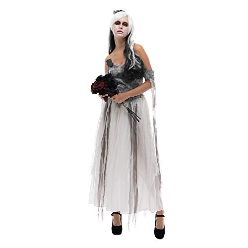 EraSpooky Disfraz de Novia de cadáver de Mujer Traje gótico de Fantasma de Halloween