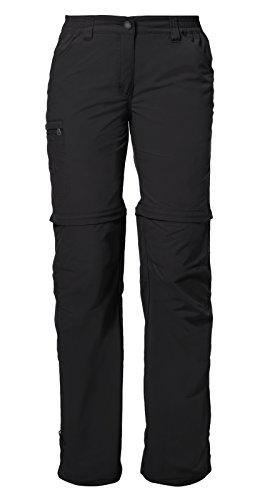 VAUDE Damen Hose Women\'s Farley ZO Pants IV, black, 42, 038730100420