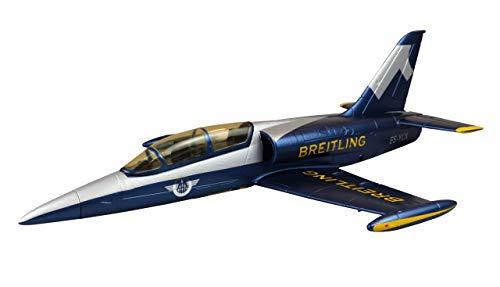 Amewi 24095 AMXFlight L-39 Albatros, Breitling Design, RC Avión teledirigido, EPO, PNP, Azul y Plateado