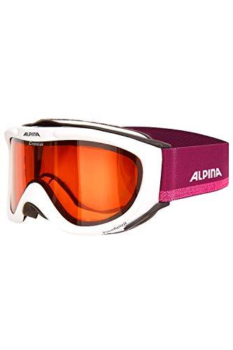 ALPINA Erwachsenen Skibrille FREESPIRIT DH OneSize (White-violett)