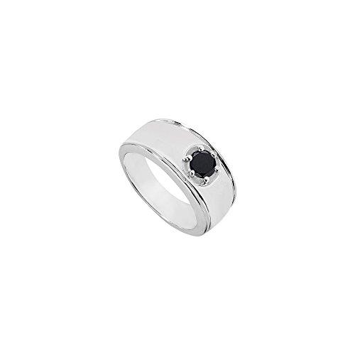 Photo of Mens Black Diamond Ring 14K White Gold 1.00 CT Diamonds