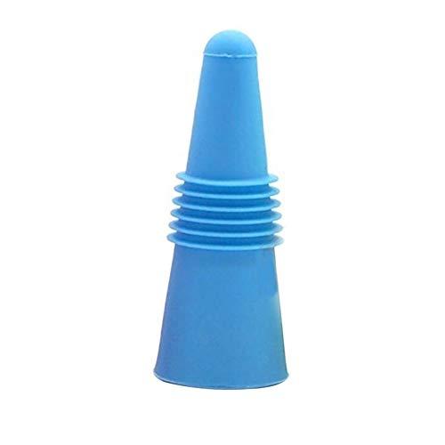 Bleu et Gris 5.5x5x5 cm Plastique Monkey Business Lot de 2 Bouchons de Bouteille en Silicone en Forme de Bonnet 5.5/x 5/x 5/cm