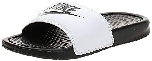 Nike Benassi Just Do It, Ciabatte, White/Black 100, 36 EU