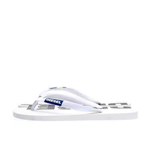 Diesel Herren SA-BRIIAN-Sandals Flipflop, Star White Türkisches Meer Schwarz, 43.5 EU