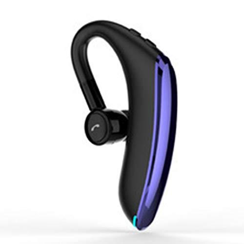 Wsaman Rotación de 180 ° Auricular Inalámbrico,Auriculares Deportivos En La Oreja, Auriculares con cancelación de Ruido, para Durante Negocios/Oficina/Conducción,Azul