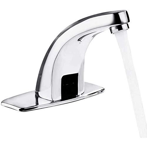 LODYPERO Grifo Automático del Sensor De Infrarrojos, Grifo Agua Inteligente Cuarto Baño Cocina Grifo Fregadero Sin Contacto Aleación del Cinc