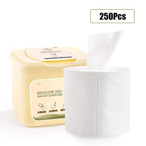 250pcs pistas algodón Toallitas quitaesmalte toallitas