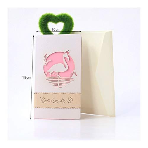Ushixishiq Muttertag 3D-Pop-Up-Karten-Postkarte Vintage Handmade Origami Papier Laser-Schnitt Kraft Geburtstags-Geschenke for Freund Dad Grußkarte (Color : GV1038I)