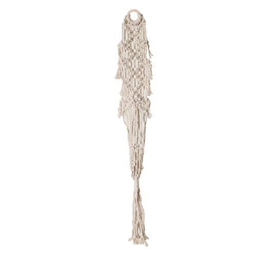 Homyl Cesta de Maceta Colgante Colgador de Maceta Tejida a Mano Soporte de Maceta - 110cm