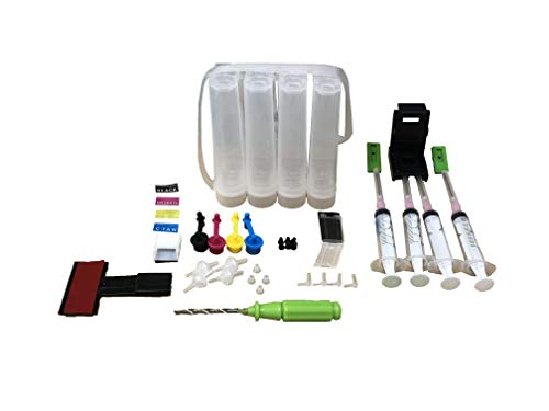 UV INFOTECH CISS Ink Tank Kit for Canon PG-810 & CL-811 Ink Cartridges for Use in IP2770, MP237, MP257, MP287 Printers