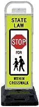 VP-6536-STOP-FB VP-6500 Series STOP In-Street Pedestrian Crossing Systems for School Zones U-Frame, & 32lb U-Base